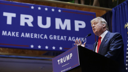 Real estate mogul and TV personality Donald Trump formally announces his bidfor the 2016 Republican presidential nomination during an event at Trump Tower in New York
