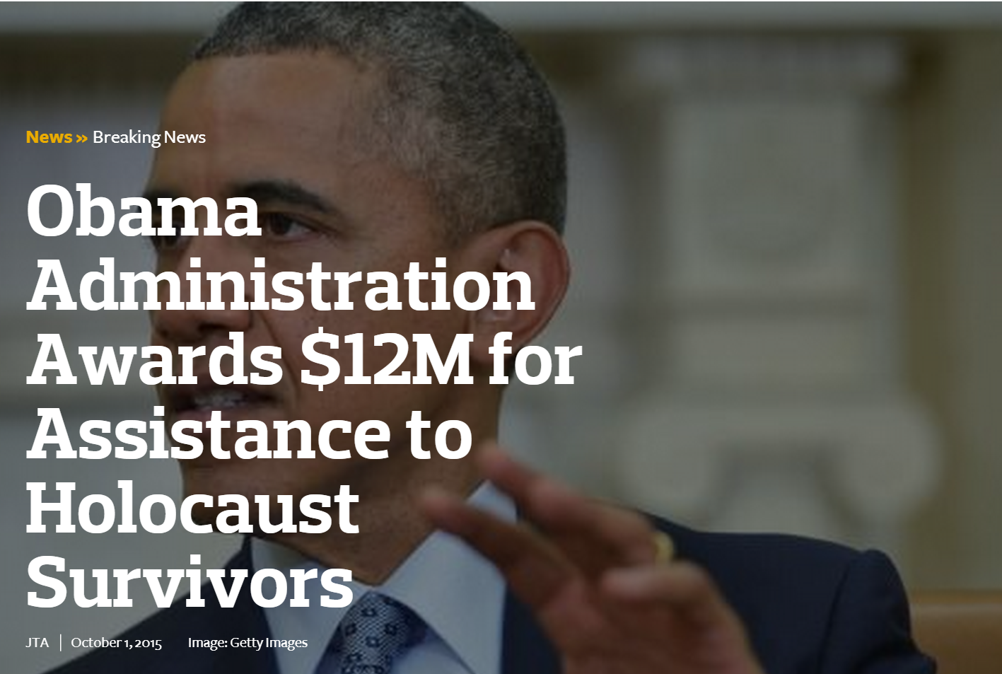 "Holocaust Survivor Quotes Obama Gives $12 Million To ""Holocaust Survivors""  The Realist Report"