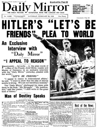 Hitler Pleas for Peace