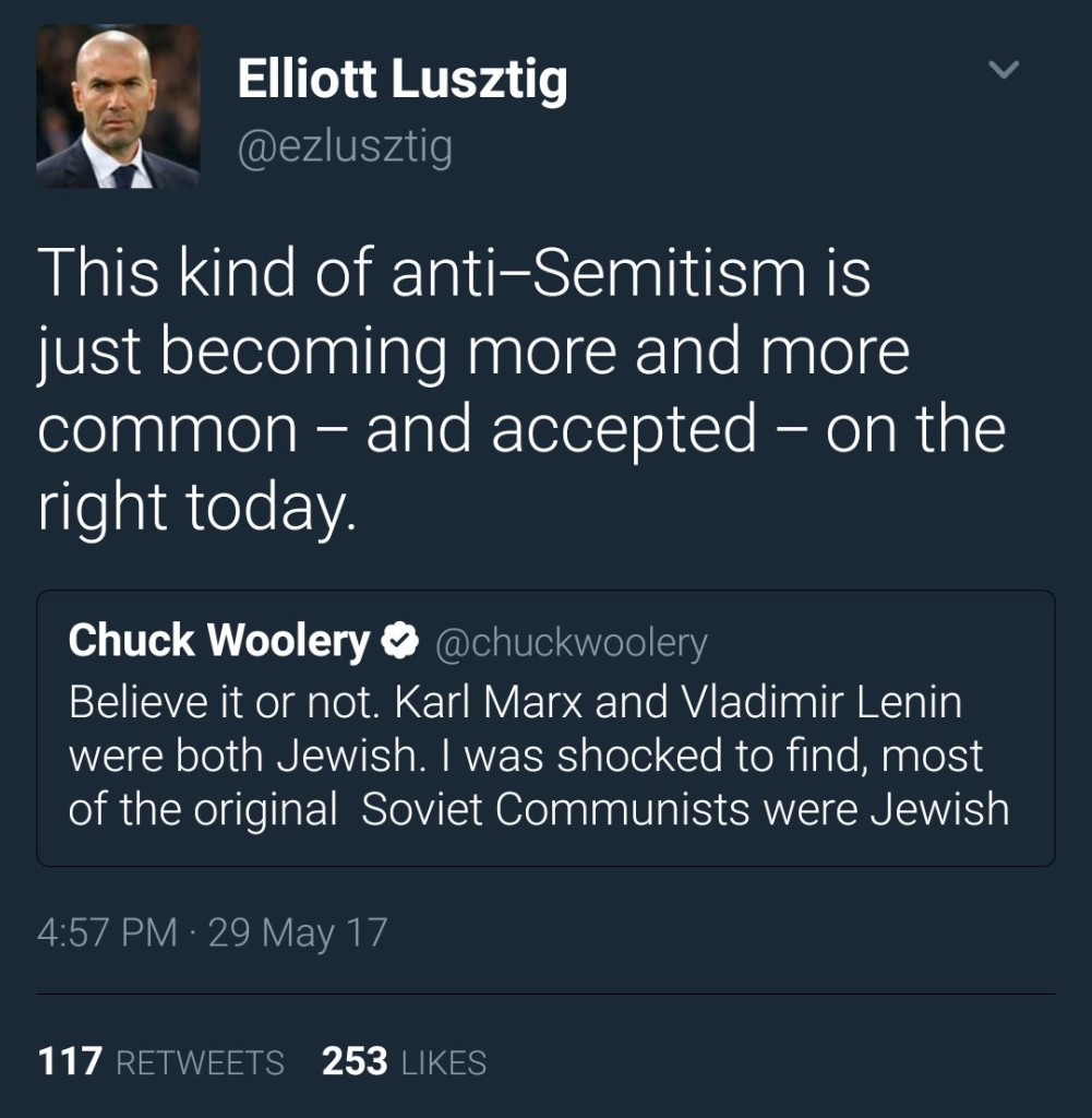"Stating basic, easily proven facts about Jews is ""anti-Semitic,"" according to Jews."