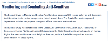Anti-Semitism Envoy State Department