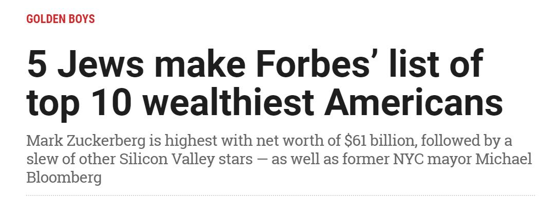 Jews Wealthiest Americans